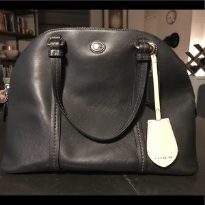 Coach Bags - Medium solid black leather dome bag